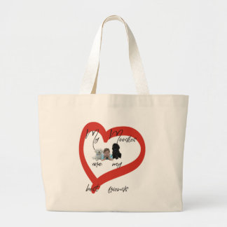 My Moodles are my Best Friends Large Tote Bag