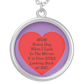 My Mother's Eyes Silver Plated Necklace