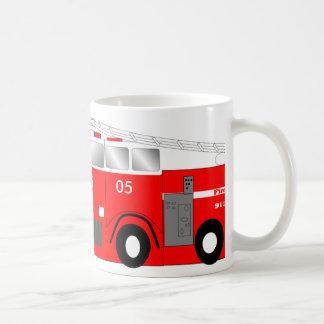 My mug is a FIRE TRUCK