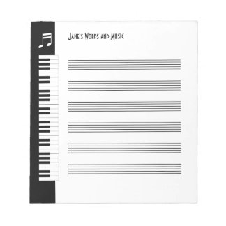 My Music - Musicians Impromptu Notepad (S)