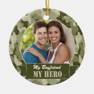My ______ My Hero Round Ceramic Ornament
