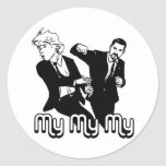 My My My Round Stickers