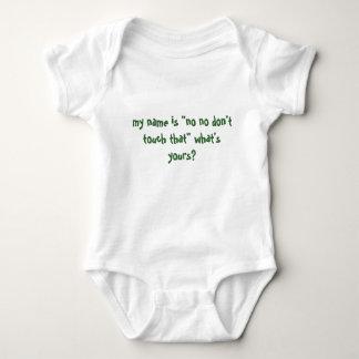 my name is baby bodysuit