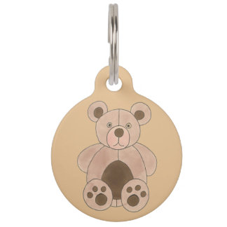 My name is BEAR Brown Tan Teddy Plush Animal Toy Pet Tag