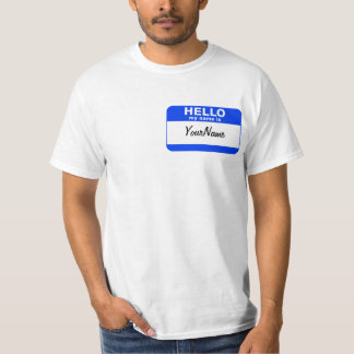 My Name Is Blue Custom Nametag T-Shirt