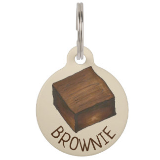 My Name is Brownie Chocolate Fudge Dessert Foodie Pet ID Tag