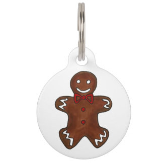 My Name is GINGER Gingerbread Man Christmas Cookie Pet Name Tag