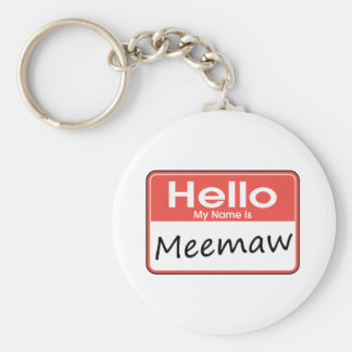 My Name is Meemaw Keychain