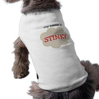 My Name Is STINKY Customizable Pet T-shirt