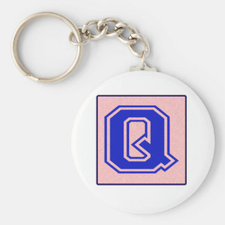 My name starts with Q Keychain