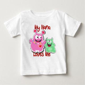 My Nana Loves Me Monster Baby T-Shirt