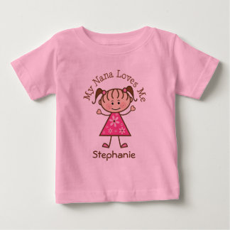 My Nana Loves Me Personalized Girls T-shirt