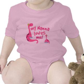My Nanna Loves Me Dinosaur Baby Bodysuits