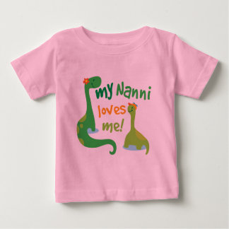 My Nanni Loves Me Dinosaur Baby T-Shirt