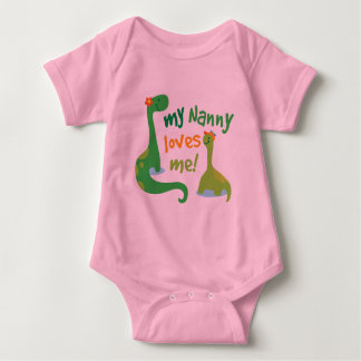 My Nanny Loves Me Dinosaur Baby Bodysuit