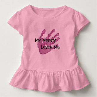 My Nanny Loves Me-Pink T Shirts