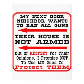 My Neighbor Wants To Ban All Guns Letterhead