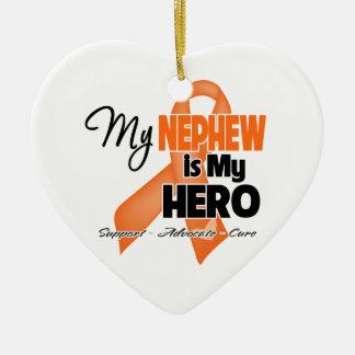My Nephew is My Hero - Leukemia Christmas Ornament