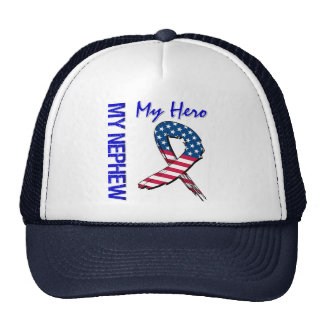 My Nephew My Hero Patriotic Grunge Ribbon Trucker Hat