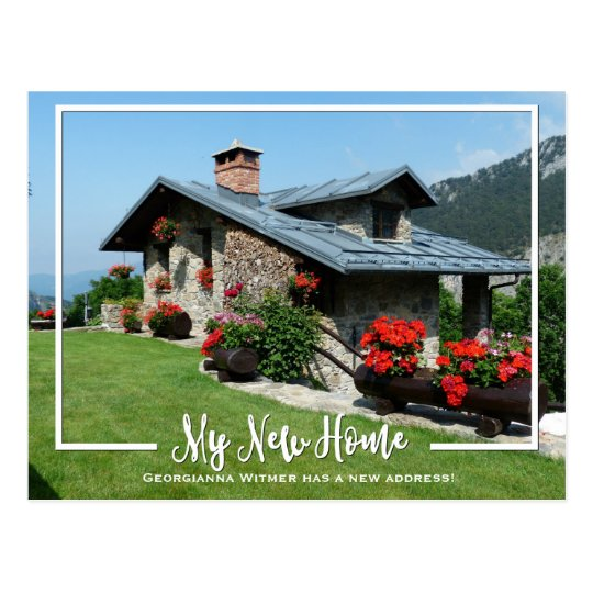 My new home photo moving announcement postcard zazzle for My new home