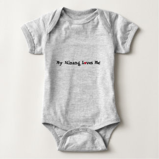My Ninang Loves me with a heart! Baby Bodysuit