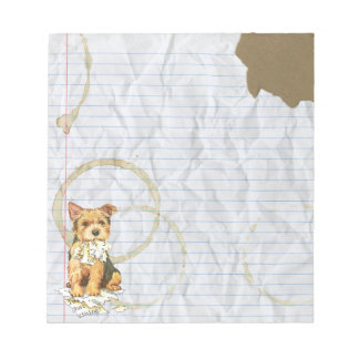 My Norwich Terrier Ate My Lesson Plan Memo Note Pads