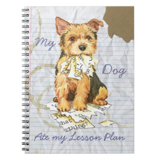 My Norwich Terrier Ate My Lesson Plan Note Books