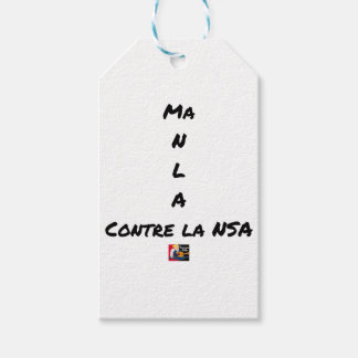 MY NR L A AGAINST the NSA - Word games Gift Tags