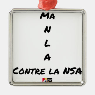 MY NR L A AGAINST the NSA - Word games Metal Ornament