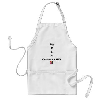 MY NR L A AGAINST the NSA - Word games Standard Apron