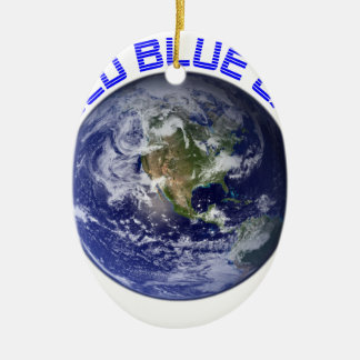 MY OLD BLUE EARTH CERAMIC OVAL ORNAMENT