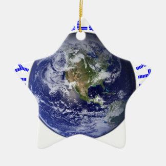 MY OLD BLUE EARTH CERAMIC STAR ORNAMENT