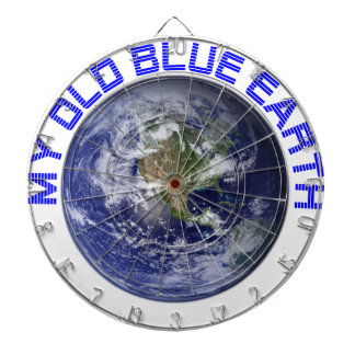 MY OLD BLUE EARTH DARTBOARD