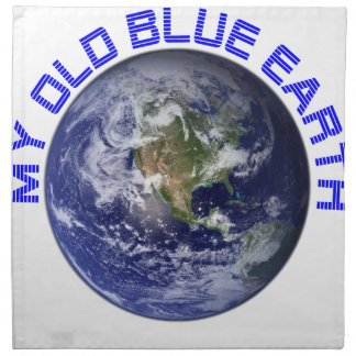 MY OLD BLUE EARTH NAPKIN