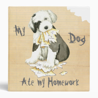 My Old English Sheepdog Ate My Homework Binder