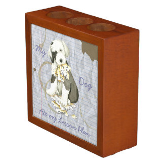 My Old English Sheepdog Ate my Lesson Plan Desk Organizer