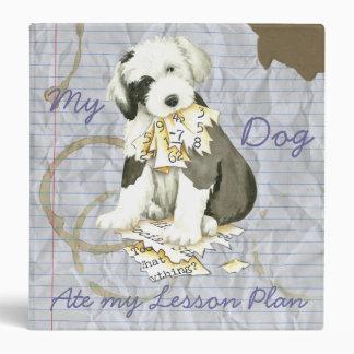 My Old English Sheepdog Ate my Lesson Plan Vinyl Binder