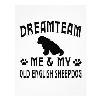 My Old English Sheepdog Dog Customized Letterhead