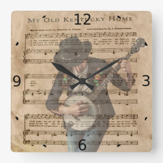 MY OLD KENTUCKY HOME SQUARE WALL CLOCK