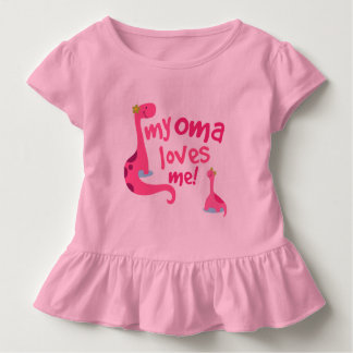 My Oma Loves Me Grandchild Gift Girls Shirt