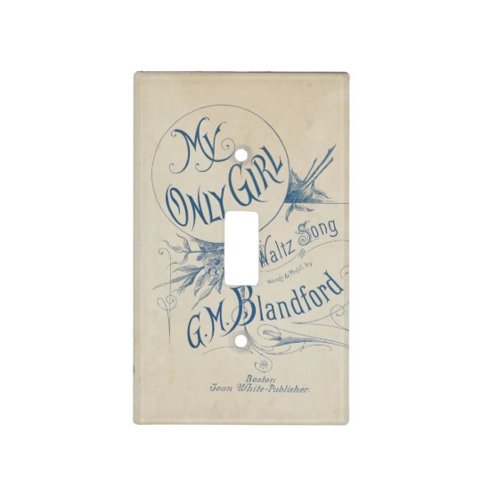 My only Girl - Antique Light Switch Cover