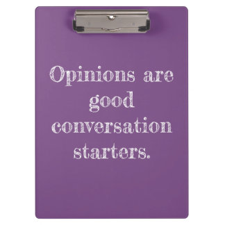 My Opinion Quote Clipboard