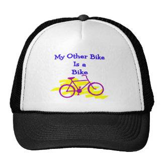 My Other Bike is a Bike---Silly cyclist Gifts Hats
