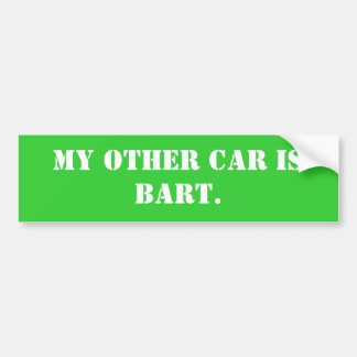 my-other-car-16 bumper sticker