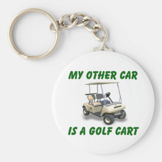 My other car basic round button keychain