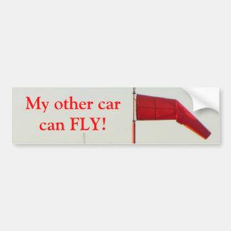 My other car can fly bumper sticker. bumper sticker