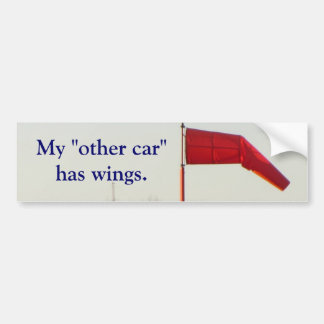 "My ""other car"" has wings bumper sticker"