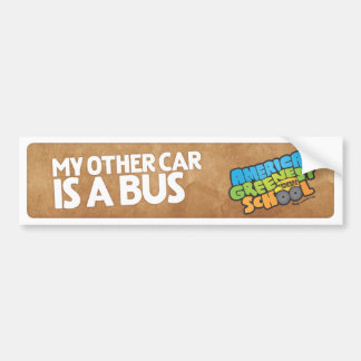 My Other Car Is A Bus Buper Sticker
