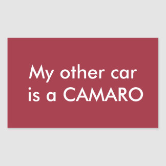 my other car is a camaro sticker