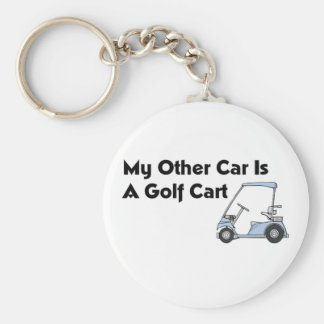 My Other Car is A Golf Cart Basic Round Button Keychain